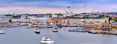 Helsinki cityscape with Helsinki Cathedral, South Harbor and Market Square Kauppatori , Finland. ID 132092583 © Elina   Dreamstime.com